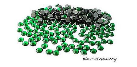 Galantéria - Hot fix 6,5 mm - Emerald - 50 kusov - 9620204_