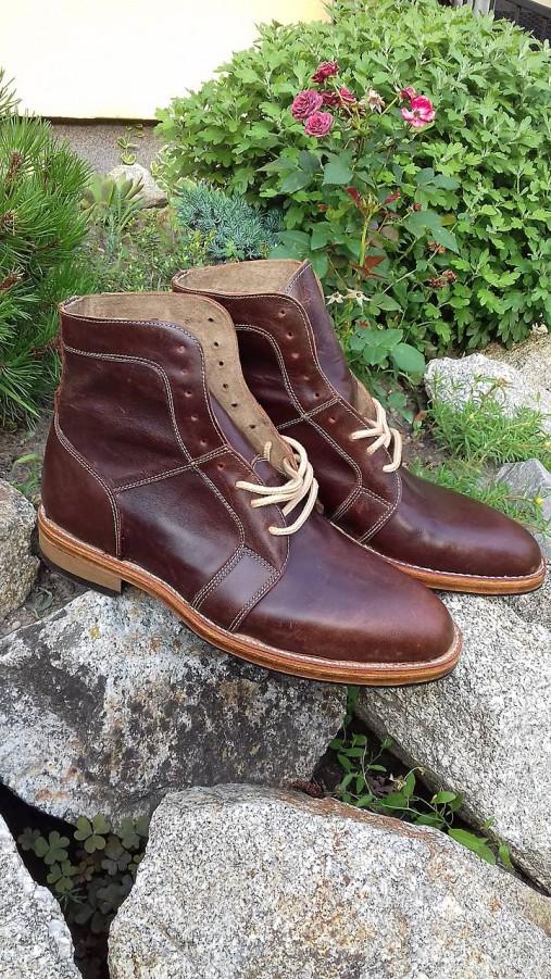 31971bedbaab Hand made pánské topánky z kože farba koňak   satika74 - SAShE.sk ...