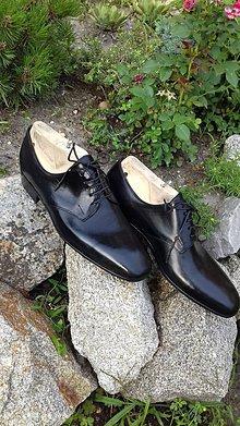 Obuv - Hand made pánské kožené topánky - 9620235_