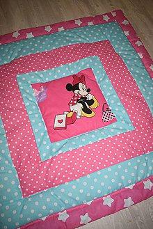 Textil - DĚTSKÁ PATCHWORKOVÁ DEKA..růžová - 9620048_