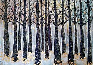 Obrazy - Stromy šťastia v kroji - 9620271_