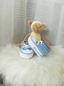 Topánočky - capačkyTenisky modré - 9619535_