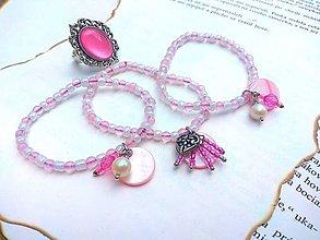 Náramky - Ružový CUTE náramok - 9619103_