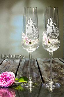 Nádoby - Svadobné poháre - 9618672_