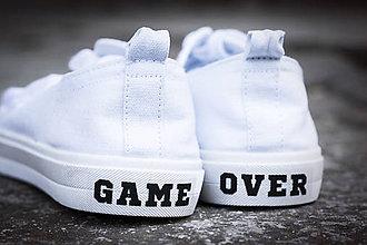 Papiernictvo - Nálepky na topánky - GAME OVER - 9619874_