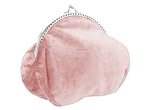 Kabelky - Zamatová kabelka -  taštička růžová 05 (Červená) - 9620240_