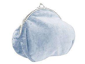 Kabelky - Zamatová kabelka modrá pre nevestu 050 (Červená) - 9620270_