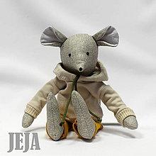 Hračky - Myška v béžovej mikine - 9619468_