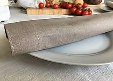 Úžitkový textil - Ľanový obrúsok a prestieranie - 9619245_