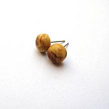 Náušnice - Špaltované javorové vypuklé ďobky - 9618507_