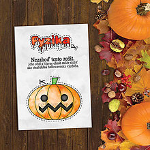 Papiernictvo - Halloweenska výzdoba - vtipný zápisník (dyňa) - 9618515_