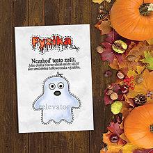 Papiernictvo - Halloweenska výzdoba - vtipný zápisník (duch) - 9619364_