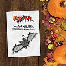 Papiernictvo - Halloweenska výzdoba - vtipný zápisník (netopier) - 9619379_