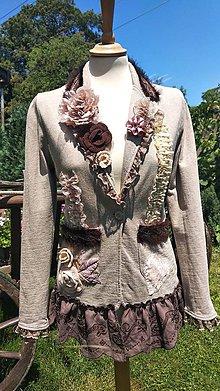 76d92616dd Kabáty - sako v jemných farbách - recyklácia - 9621180