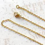 - Stainless Steel Gold Chain 45 cm / Retiazka 45cm z chirurgickej ocele v zlatej farbe /0180 (45 cm) - 9621106_