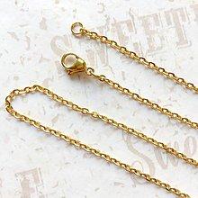 Náhrdelníky - Stainless Steel Gold Plated Chain 45 cm / Pozlatená retiazka 45cm z chirurgickej ocele - 9621106_