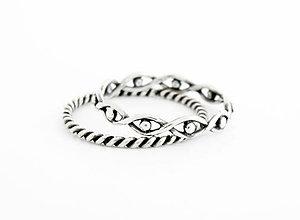 Prstene - 925 sada strieborných prsteňov Wave - 9622780_