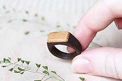 Prstene - Drevený prsteň Orech&Buk /pánsky/ - 9621885_