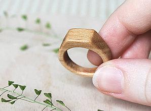 Prstene - Drevený prsteň BUK /pánsky/ - 9622788_