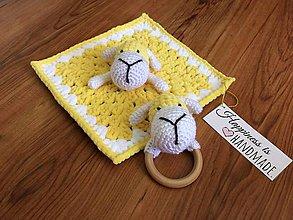 Hračky - Mojkáčik ovečka a hrkálka - 9620879_