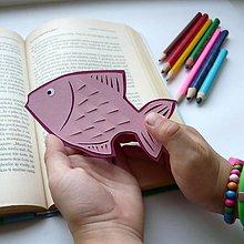 Papiernictvo - Ružová rybka do knižky... - 9622046_