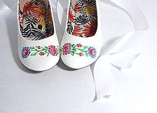 Obuv - svadobné balerínky - ľudový vzor I. - 9621241_