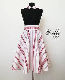 Sukne - YWETTE: malý kúsok folklóru na sukni sa mi páči - 9621392_