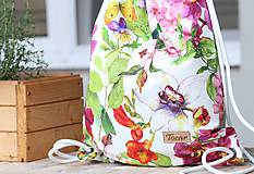 - Vak uťahovací - farebné kvety - 9622960_