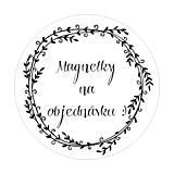 Darčeky pre svadobčanov - Magnetky na objednávku - 9623141_