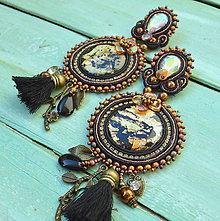 Náušnice - Gilded Earrings n.3 - sutaškové náušnice - 9620712_