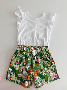 Detské oblečenie - Šortky tropicana - 9622834_