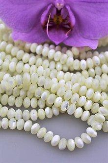 Minerály - perleť korálky - disky 5x8mm - AA kvalita - 9622898_