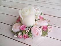 """Dekorácie - Kvetinový aranžmán a svietnik v tvare srdca  """"... srdiečko pre Teba..."""" - 9620808_"""