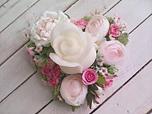 """Dekorácie - Kvetinový aranžmán a svietnik v tvare srdca  """"... srdiečko pre Teba..."""" - 9620813_"""