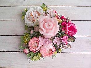 """Dekorácie - Kvetinový aranžmán a svietnik v tvare srdca  """"... z lásky pre Teba..."""" - 9620785_"""