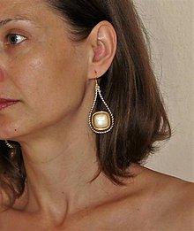 """Náušnice - náušnice """"zipsové"""" zlatá elegancia - 9620893_"""