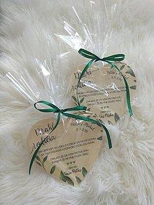Darčeky pre svadobčanov - Magnetka ako poďakovanie pre rodičov - 9623219_
