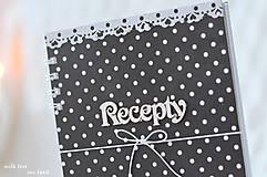 Papiernictvo - Receptárik - black/white II. - 9622863_