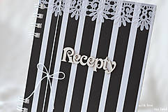 Papiernictvo - Receptárik - black/white IV. - 9622937_