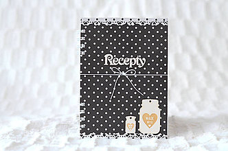 Papiernictvo - Receptárik - black/white II. - 9622862_