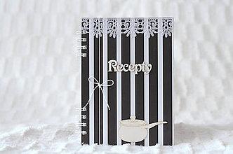 Papiernictvo - Receptárik - black/white IV. - 9622936_