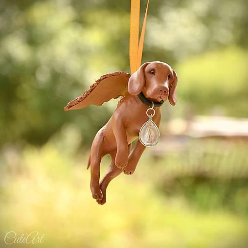 Maďarská vyžla - figúrka psa podľa fotografie (anjel)