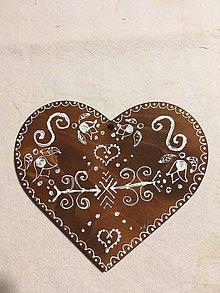 Kresby - Maľované srdiečko 8 - 9623179_