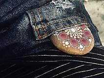 Dekorácie - Kamienok do vrecka - Na kameni maľované - 9623028_