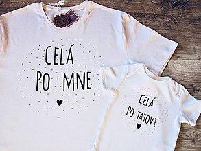 Detské oblečenie - Maľované tričká pre ocina/mamu a dcérku/syna set obsahuje 2ks - 9620833_