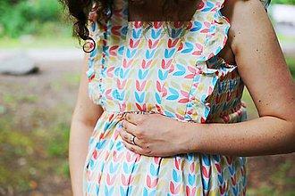Tehotenské oblečenie - Šaty FORGET-ME-NOT Flower - 9620391_