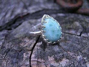 Prstene - Strieborny prsteň Ag 925 Larimar - 9620802_