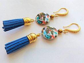 Náušnice - Perleť - náušnice so strapcami - 9620376_