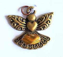 Iné šperky - Anjel lásky tigrie oko cp135 - 9622383_