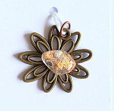 Iné šperky - Kvet krištáľ lodolit cp156 - 9622526_